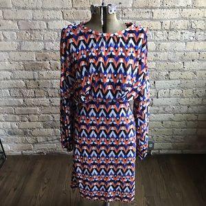 Zara Geometric Midi Dress! EUC! Size L